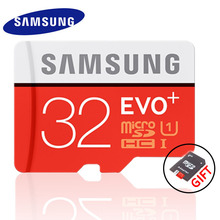 SAMSUNG EVO+ Memory Card 16GB/32GB/SDHC 64GB/128GB/SDXC 80MB/S Micro SD TF Class10 Class10 Flash Memory Cards Free Shipping