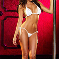 2016 Mujeres de la manera Opacidad Bikini divertido set Extreme Sexy bra tanga Ropa Interior de la Ropa Interior de Las Señoras de la Correa