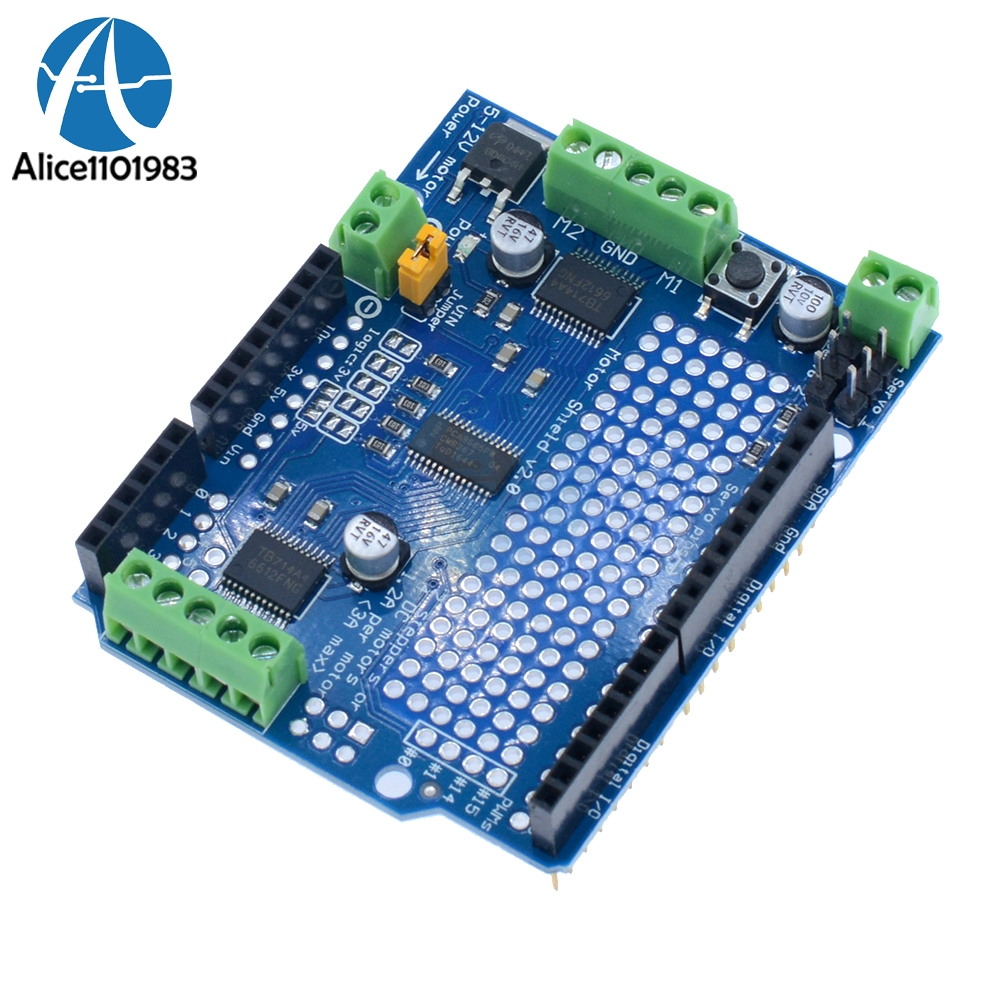 Tb6612 Leonardo Iic I2c Mosfet Stepper Motor Board Pca9685 Servo Helm Snail 315 Yellow Red Driver Shield Module For Arduino Robot Pwm Uno Replace L293d In Integrated Circuits From