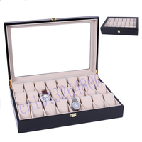 2018 New 24 Grids wooden Jewelry packing case Watch Case Box Casing for Hours Sheath for Hours Box for hours Watch