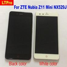 100% Testado Trabalho Preto Branco LCD Screen Display Toque Digitador Assembléia com quadro Para ZTE Nubia Z11 Mini NX529J Sensor
