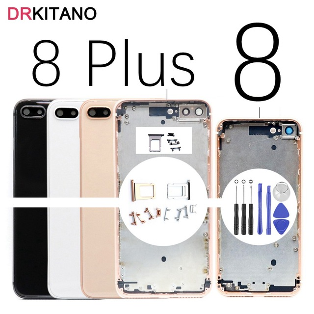 big sale a2aaf a5e72 US $42.49 |For Apple iPhone 8 Plus Back Housing Battery Cover Rear Door  Case For iPhone 8 Back Housing Middle Chassis Body Replacement-in Mobile  Phone ...