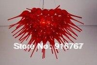 C106 -- lustre de vidro de design especial vermelho feito à mão