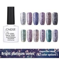 10ML Bright Platinum Series UV Gel Nail Polish Soak-off UV Led Long-lasting Gel Lak Nail Art Manicure Color Shining Nail Polish