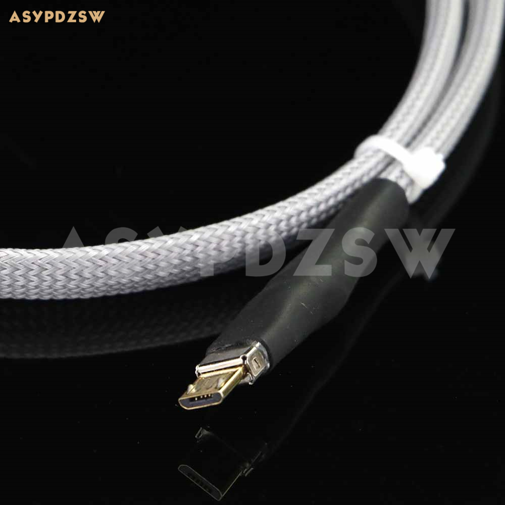 High quality DIY 4N Sterling silver HIFI Audiophile (0.75 meter) USB Micro data cable for Android-in Data Cables from Consumer Electronics    1