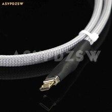 Высокое качество DIY 4N стерлингового серебра аудио высокой четкости (0,75 м) USB микрокабель для передачи данных для Android