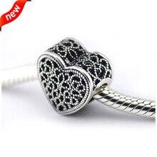 Se adapta a Pandora pulseras gold Filled con Romance Silver Beads 100% 925 encantos de plata de la joyería DIY venta al por mayor 11333