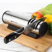 Afilador de piedra de acero inoxidable afilador rápido molinillo del hogar cuchillo Grindstone cocina de oráculo automático respetuoso con el medio ambiente