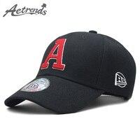 [AETRENDS] черный Кепки шляпа Для мужчин хлопок Бейсбол Кепки s для Для мужчин Для женщин мужские кепки фирменные Для мужчин s бейсболка с колпако...