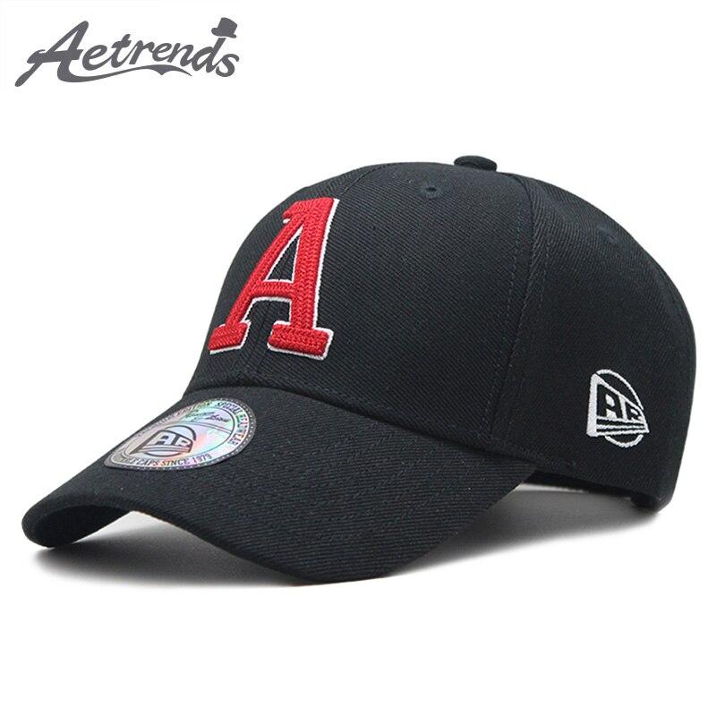 [AETRENDS] Black Cap Hat Bonés de Beisebol para Mulheres Dos Homens Dos Homens do Algodão Ossos Masculino Marca Mens Tampas Snapback Hip-Hop chapéus Z-6391