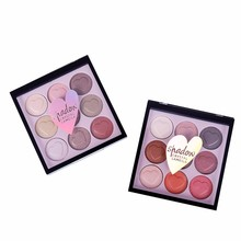 Hot Fashion Makeup Eye Shadow Eyeshadow Cosmetics Set With Brush 9 Colors Eye Makeup Palette Natural Shimmer Matt Setr F5.9