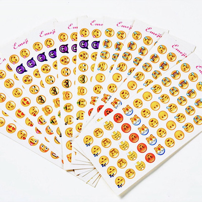 12 Sheets/Lot Creative Mini Emoticons Sticker Label Kawaii Scrapbooking Stickers for Children In Diary DIY Notepad School Supply12 Sheets/Lot Creative Mini Emoticons Sticker Label Kawaii Scrapbooking Stickers for Children In Diary DIY Notepad School Supply