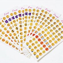 12 Sheets/Lot Creative Mini Emoticons Sticker Label Kawaii Scrapbooking Stickers for Children In Diary DIY Notepad School Supply(China)