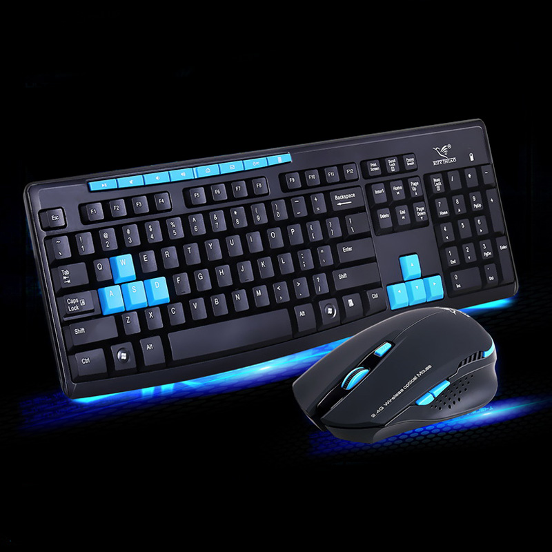 New 2.4G Wireless Gaming Keyboard + Mouse Set Combo for Desktops Laptops PC QJY99
