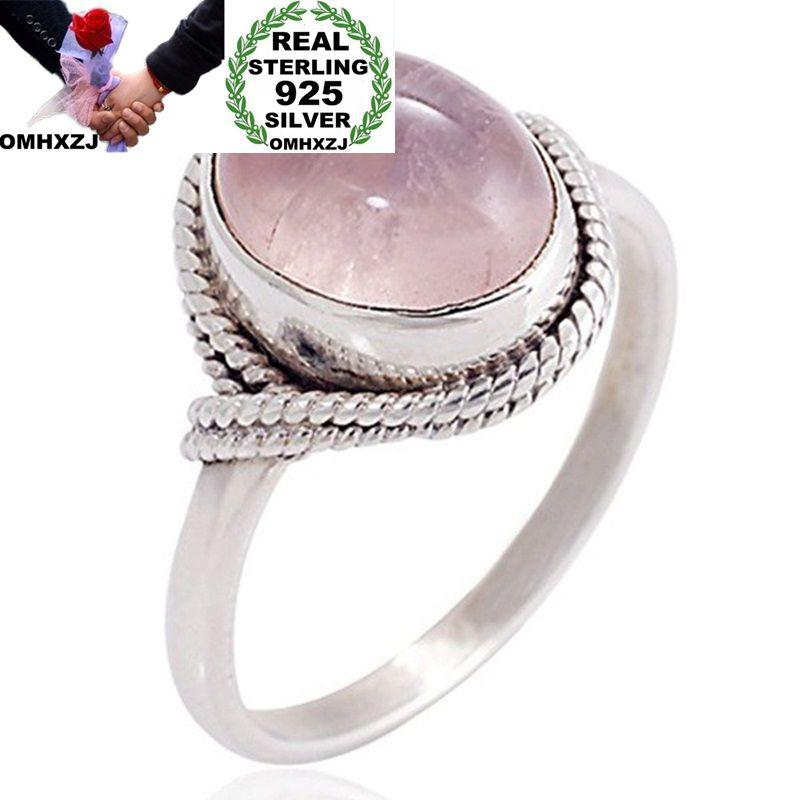 OMHXZJ Wholesale European Fashion Woman Man Party Wedding Gift Silver Oval Silver White AAA Zircon Taiyin Ring RR310