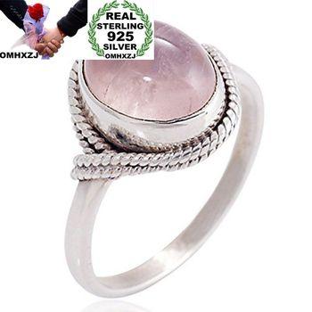 530ba5617794 OMHXZJ europea al por mayor moda mujer hombre fiesta regalo de boda plata  Oval blanco de plata de circón AAA Taiyin anillo RR310
