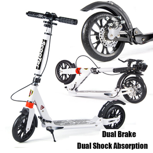 Adult /children Kick Scooter Stand Urban Fold Scooter With Double Shock Absorption Design Double Brake(China)