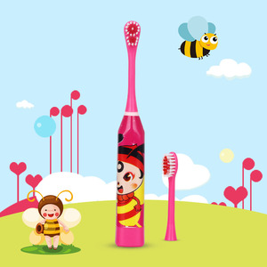 Image 3 - Cartoon Pattern Children Electric Toothbrush Double sided Tooth Brush Heads Electric Teeth Brush Or Replacement Brush Heads Kids