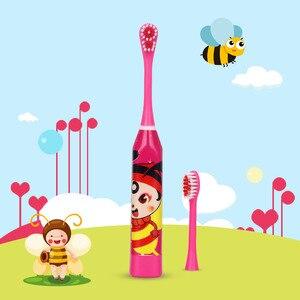 Image 3 - Karikatür desen çocuk elektrikli diş fırçası çift taraflı diş fırçası kafaları elektrikli diş fırçası veya yedek fırça başkanları çocuklar
