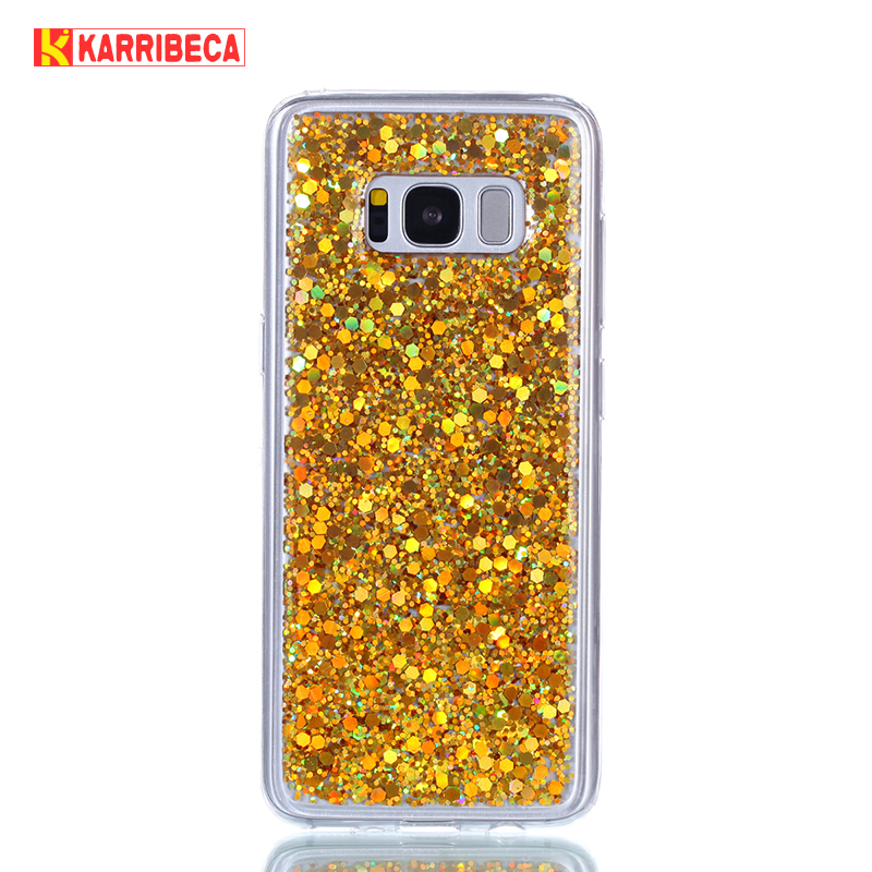 Glitter Bling Cover para Samsung galaxy s8 funda Cute Candy Colorful - Accesorios y repuestos para celulares