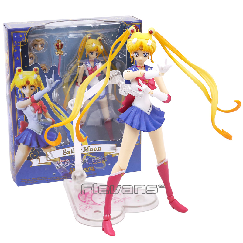 SHFiguarts Sailor Moon Tsukino Usagi 20th Anniversary PVC Action Figure Collectible Model Toy with Retail Box shfiguarts naruto uchiha itachi moloing and movable pvc action figure collectible model toy 16cm
