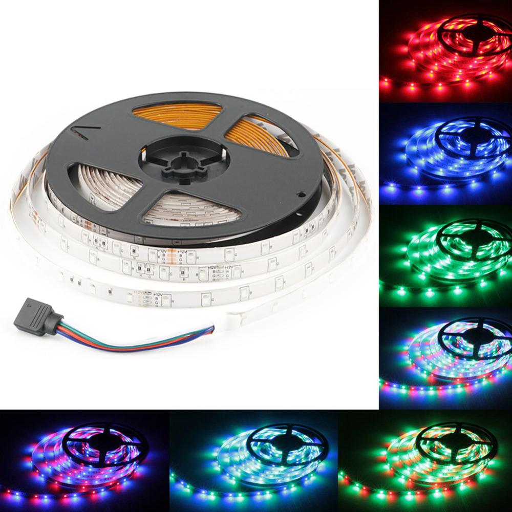 DC12V LED Strip Light  5M RGB/Warm White/Blue Waterproof LED Ribbon Tape Flexible Lights SMD2835 60led/M