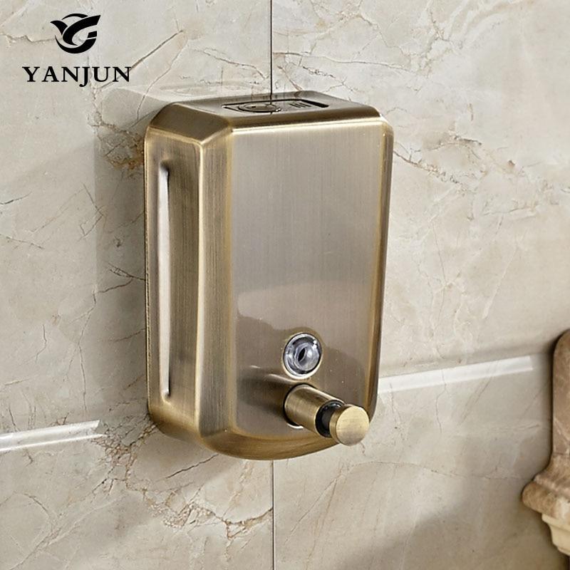 Yanjun Bottiglie di Shampoo E il Corpo A Parete Bronzo Antico Liquido della Pompa Dispenser di Sapone Disinfettante Per Le Mani La Cucina 800 ml YJ-2615