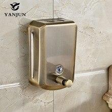 Yanjun קיר רכוב שמפו וגוף בקבוקי עתיק ברונזה נוזל סבון Dispenser משאבת יד Sanitizer מטבח 800ml YJ 2615