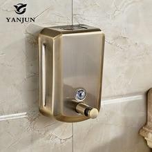 Yanjun  Wall Mounted Shampoo And Body Bottles Antique Bronze Liquid Soap Dispenser Pump Hand Sanitizer Kitchen 800ml YJ 2615