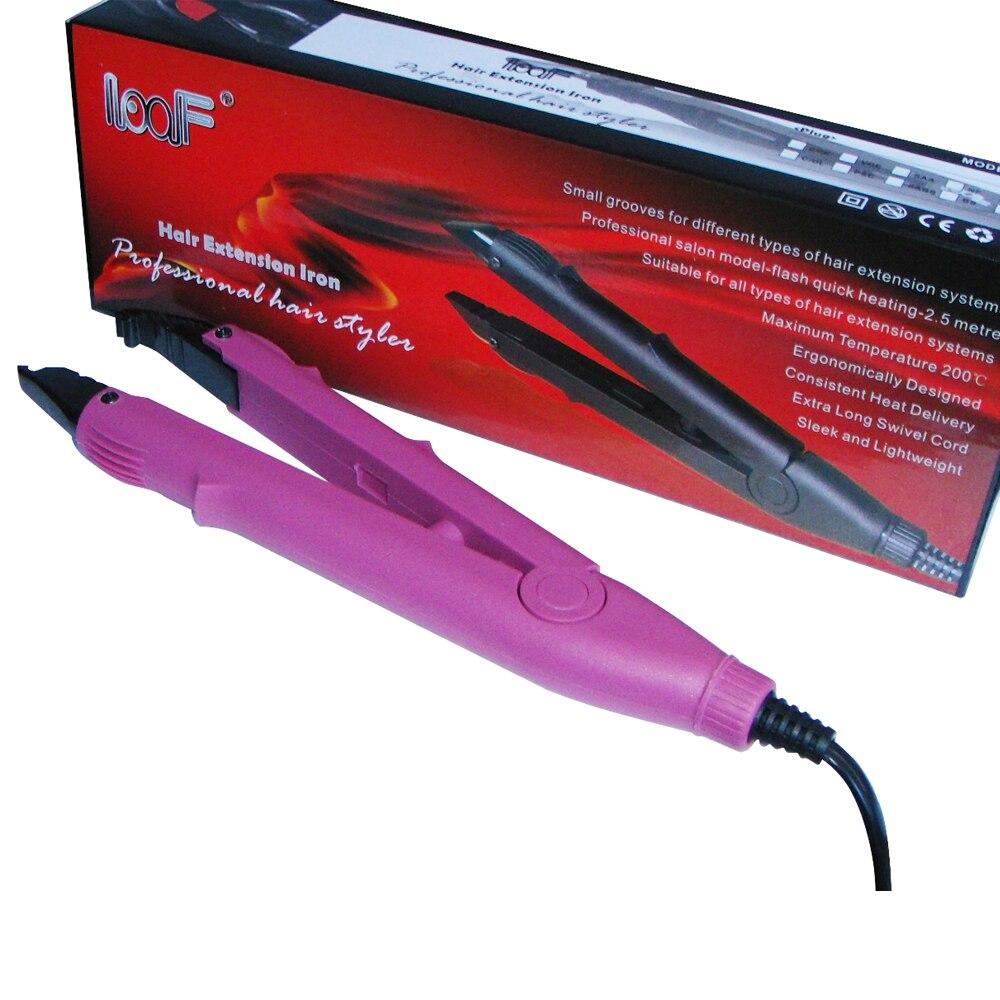 Розовый цвет плоской пластины Fusion Химическое Наращивание волос кератин склеивания инструмент Тепло Утюг jr-610 + бесплатная доставка