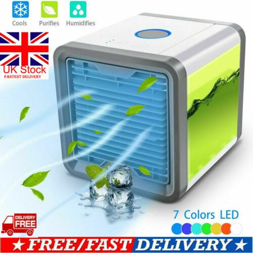 UK Portable Mini Air Conditioner Cool Cooling For Bedroom Cooler Fan7 Colors LEDUK Portable Mini Air Conditioner Cool Cooling For Bedroom Cooler Fan7 Colors LED