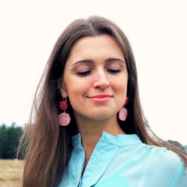 EManco Carino Menta Appeso Saturo di Colore Orecchini per Le Donne Imitazione di Cristallo Dell'orecchio Geometrica di Marca Gioelleria raffinata e alla moda 2018