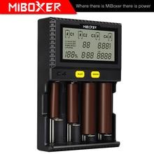 LCD C8 C2 6000 C2 3000 C4 Ekran Li ion LiFePO4 Ni MH Ni cd AA AAA 21700 20700 26650 17670 RCR123 MiBOXER 18650 pil şarj cihazı