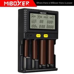 Lcd c8 C2-6000 C2-3000 c4 li-ion lifepo4 ni-mh ni-cd aa aaa 21700 20700 26650 17670 rcr123 miboxer 18650 carregador de bateria