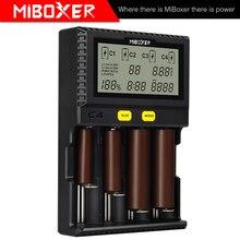 Tela lcd c8 C2 6000 c4, li ion lifepo4 ni mh ni cd aa aaa C2 3000 21700 20700 rcr123 miboxer carregador de bateria 18650,