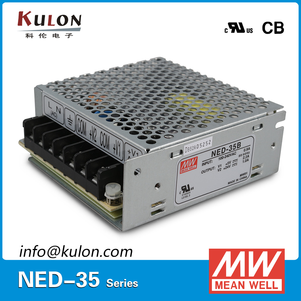 Original Mean well NED-35B 35w Dual output  5V 0.5~4.0A 12V 0.2~1.3A Meanwell power supply hamlet ned r