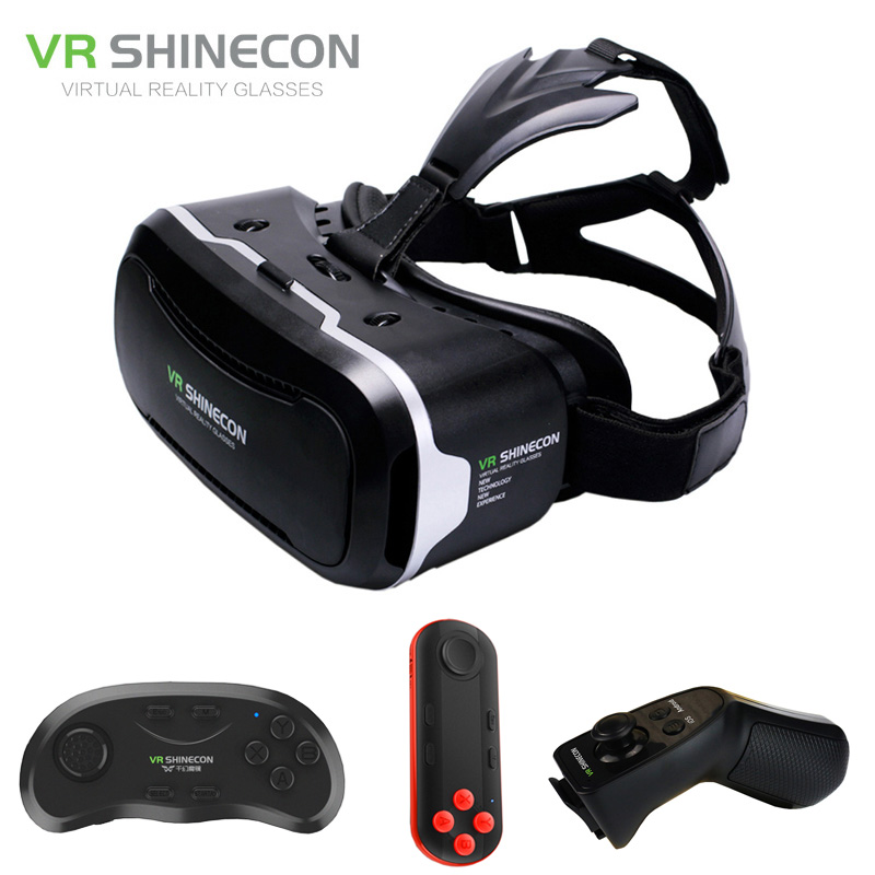 VR Shinecon 2 0 3D Glasses Virtual Reality Smartphone Headset Google Cardboard VR BOX Helmet for