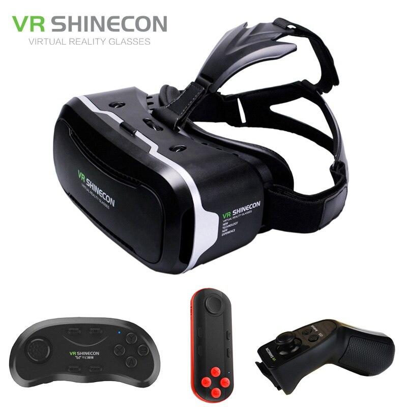 Vr shinecon 2.0 3D Очки виртуальной реальности Смартфон Гарнитура Google cardboard VR коробка шлем для Iphone, Android 4.7-6 телефон