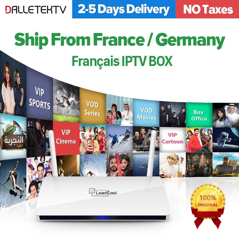 Leadcool IP ТВ приемник Android Франции Арабский IP ТВ коробка Rk3229 Quad-Core WI-FI Smart ТВ коробка Leadcool QHD ТВ арабский Франции IP ТВ коробка
