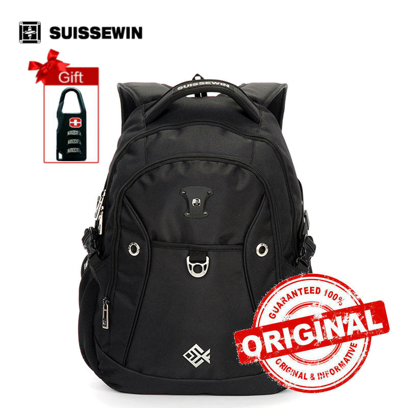 Suissewin Backpack Male Casual Backpack For Teenagers 15 laptop Backpack Bag Boy Light Weight School Backpack Sac a dos sn7009 lowepro protactic 450 aw backpack rain professional slr for two cameras bag shoulder camera bag dslr 15 inch laptop
