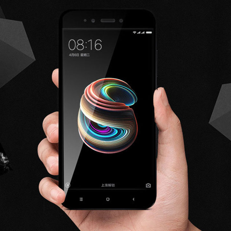 6b4c910584d For Xiaomi Mi A1 Tempered Glass Front Full Cover Screen Protector Slim  Armor Film Black Gold White For Xiaomi Mi5X Mi 5X 5.5
