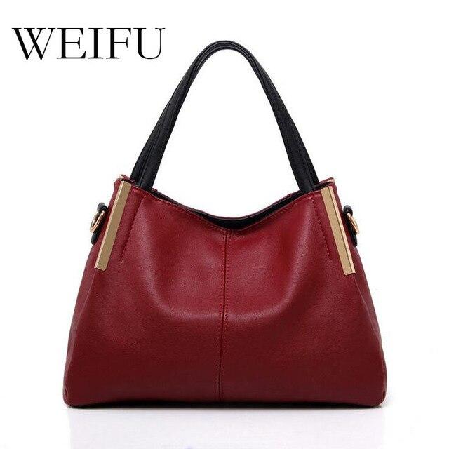 WEIFU brand woman single shoulder bag of PU leather the handbag A woman one shoulder inclined shoulder bag