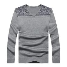 Ali 8XL 7X 6XL 5XL 2016 New Autumn Fashion Brand Casual Sweater V-Neck Striped Slim Fit Knitting Mens Sweaters And Pullovers Men