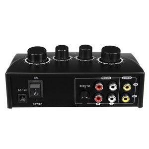 Image 3 - Профессиональный микрофон LEORY, аудиомикшер, микрофоны для караоке, усилитель звукового смешивания, двойные Микрофонные входы, предусилитель для дома KTV