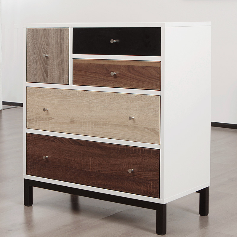 House treasure chest of drawers IKEA modern minimalist white bedroom ...