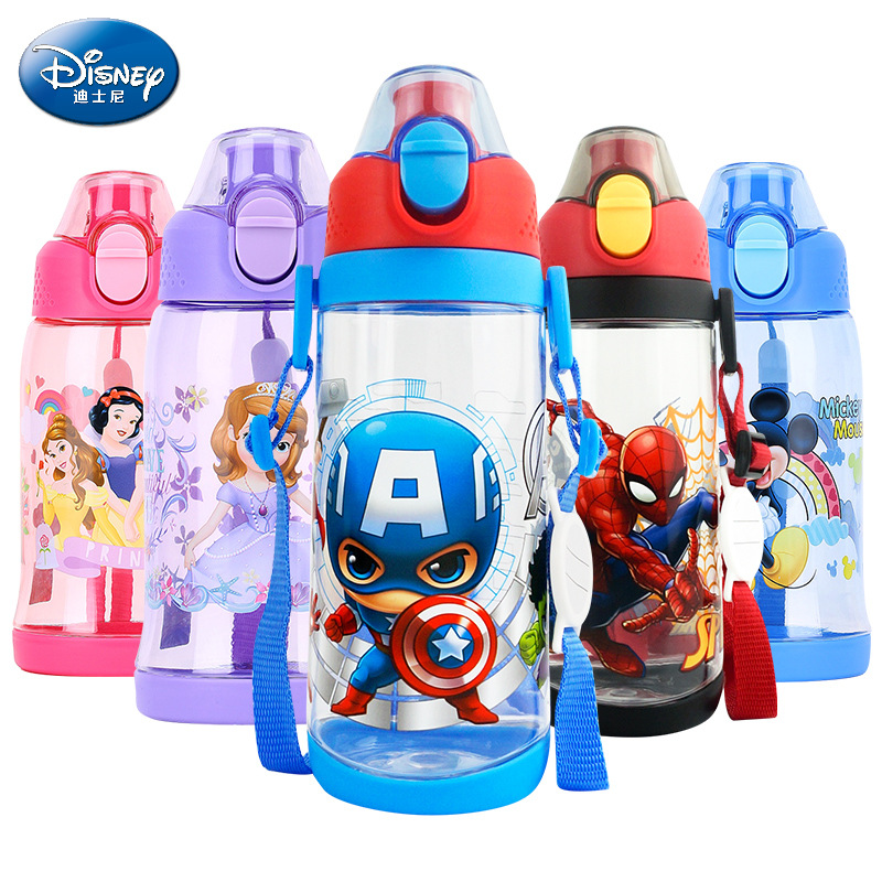 500ml Kids Drink Water Directly Baby Feeding Bottle Minnie Mickey Mouse Feeding Cup Cars Bottle Summer Space Sports Cup
