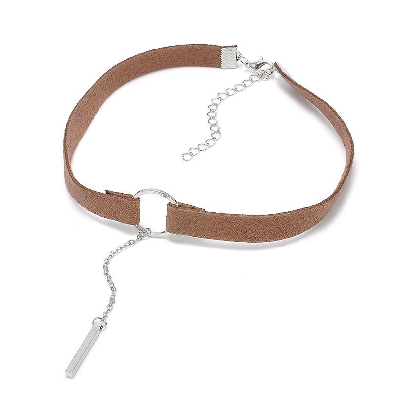 HTB1PyDuOXXXXXbcXpXXq6xXFXXXA Punk Leather Collar Necklace With Geometric Pendant