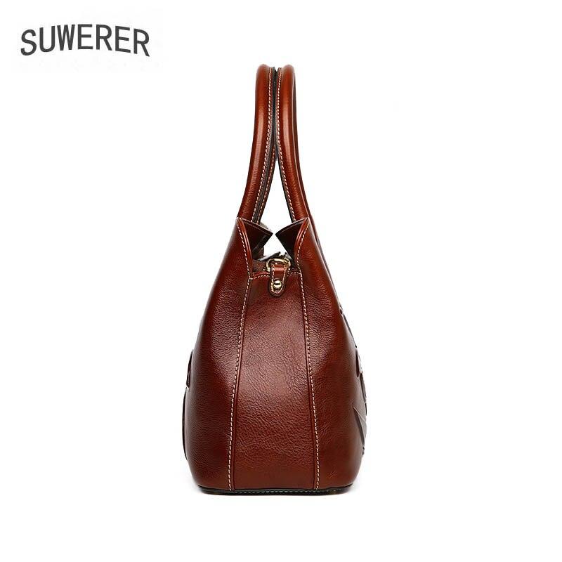 Suwerer Geprägte Luxus Überlegene Echtes Berühmte brown green Taschen Leder red 2019 Rindsleder Purple Frauen Handtaschen Neue black Marke Tasche rP7Hqrg