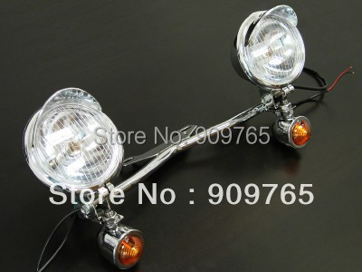 for Kawasaki Honda Driving Passing Turn Signal Spot Light Bar Vulcan 800 900 1600 1700 VT
