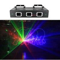 AUCD 3 Obiektyw 1.6 W RGB Czerwony Zielony Niebieski Animacja Wiązki Światła Laserowego DMX 7 CH PRO DJ Party KTV Bar PRO Oświetlenie Sceniczne DJ-503